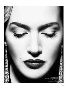 Kate Winslet - Vogue Espana - Photo by Miguel Revereigo - Makeup by Lisa Eldridge. The photographer is amazing.and I always ADORE Lisa Eldrige's makeup work. Kate Winslet, Victoria Tornegren, Lisa Eldridge, Photo Portrait, Vogue Spain, Celebrity Portraits, Celebrity Faces, Celebrity Photos, Celebs