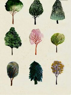 Tree watercolor illustrations - when I have time! Combine with pen and ink - Art - Tree watercolor illustrations – when I have time! Combine with pen and ink – The Effective Pict - Art And Illustration, Watercolor Illustration, Watercolor Trees, Watercolor Paintings, Simple Watercolor, Tattoo Watercolor, Watercolor Animals, Watercolor Techniques, Watercolor Background