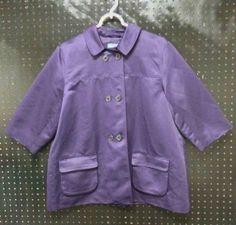 SIMPLY VERA WANG Deep Purple Swing Jacket Ladies Size XL Extra Large B237 #SimplyVeraVeraWang #Swing