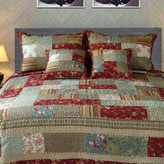 Tache Home Fashion Cotton Charming Fairytale Tea Party Reversible Quilt Set