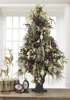 Plum purple with soft muted gold christmas tree (royal and elegant)!