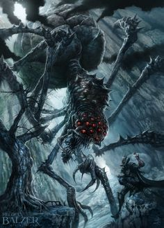 Silmarillion - Ungoliant and Melkor by helgecbalzer