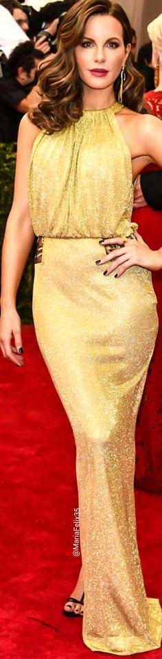 Kate Beckinsale in Diane von Furstenberg at The Met Gala Red Carpet 2015