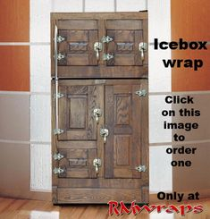 refrigerator wrap sticker old barn wood click on the With what kind of paint to use on kitchen cabinets for dallas cowboy stickers