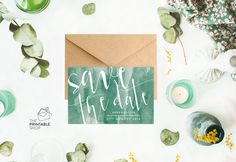 Watercolor save the date cards Printable by ThePrintableShopcom