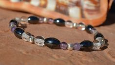 Hematite and Amethyst...reduce stress feel calm have by CrystalMeB