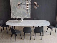 Mesa retangular de mármore MAD DINING TABLE - Poliform