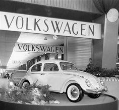 My husband's beloved first car, a 1959 Volkswagen Beetle