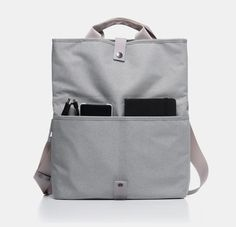 Foldover body bag. Snap/button/toggle strap. Slip shoulder strap into that strap to convert to backpack