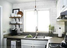 Concrete Overlay Kitchen Countertop