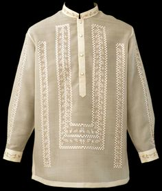 Raya Barong Tagalog #4002 Add this expertly crafted Barong Tagalog dress shirt to your formal wardrobe. From the fit to the feel and appearance, this shirt has an all-around modern vibe.  #BarongsRUs #barong