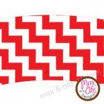 Printable #cupcake wrapper for red and white chevron themed party