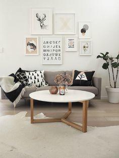 La composición perfecta para la pared de encima del sofá | La Garbatella: blog de decoración de estilo nórdico, DIY, diseño y cosas bonitas.