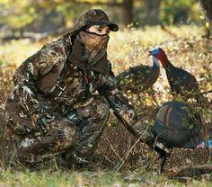 Her Turkey Hunt Day
