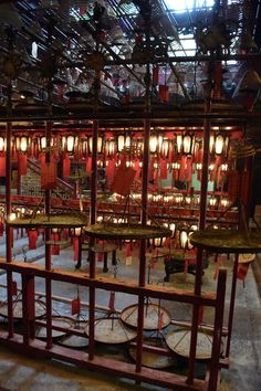 We've just left our Hometown of NYC to travel the world. Our first stop was Hong Kong. Great place to travel with kids. This is Man Mo Temple in Hong Kong | Dish Our Town