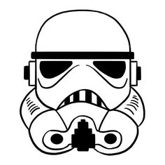 Learn to draw a stormtrooper helmet. Kids and beginners alike can now draw a great looking stormtrooper helmet. Clone Trooper Helmet, Boba Fett Helmet, Star Wars Helmet, Stormtrooper Helm, Darth Vader, Retro Helmet, Vintage Helmet, Star Wars Drawings, Easy Drawings