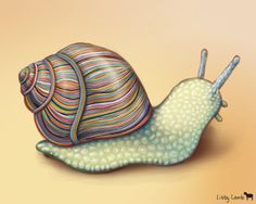 A snail with a shell made of wrapped colored wires. As far as I can remember, this is the second snail I have drawn. Snail Art, Scratchboard Art, Snail Shell, Mushroom Art, Insect Art, Arte Disney, Sketch Inspiration, Animal Sketches, I Tattoo