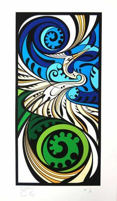 Shane Hansen is a Maori Artist based in Aotearoa New Zealand. He creates original paintings, limited edition prints and a range of objects and products. His artwork is mostly themed around native birds, his heritage and connection to the land. Maori Designs, Art Maori, Kunst Der Aborigines, Polynesian Art, New Zealand Art, Nz Art, Zentangle, Kiwiana, Indigenous Art
