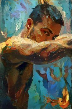Ed Haslam is a London-born artist and graduate from Manchester University. Figure Painting, Painting & Drawing, Male Body Art, Male Body Painting, Illustration Art Dessin, Masculine Art, Queer Art, Art Of Man, Portrait Art