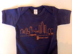 Detroit Skyline Baby Onesie by GoodsDetroit on Etsy, $18.00