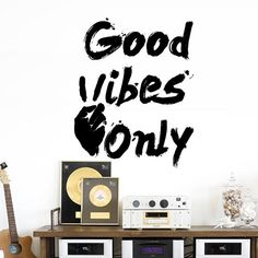 Wall Decal Vinyl Sticker Art Decor Design Only Good Vibes Sign Victory Lettering Motivational Bedroom Dorm M1586 Maden in USA DecorWallDecals http://www.amazon.com/dp/B016W60FTQ/ref=cm_sw_r_pi_dp_P5Zjwb0WKB6PF