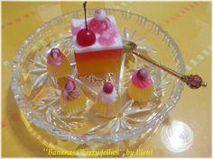 Banana Cherry Jelly Soaps by Eleni by ElenisLittleShop on Etsy