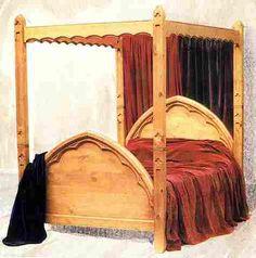 medevil bedroom furniture   Gothic Revival Painted & wooden beds & bedroom furniture