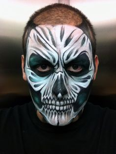 find this pin and more on halloween make upface paint halloween skull by ronniemena - Halloween Skull Painted Face