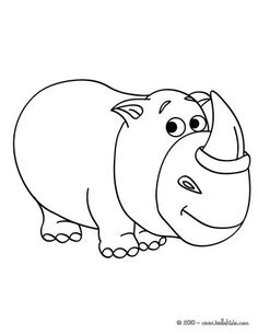 Rhinoceros Fantasy coloring page. More Africain animals coloring sheets on hellokids.com