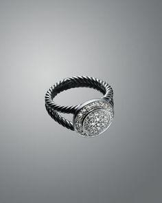 David Yurman Petite Albion Ring, White Topaz - Neiman Marcus