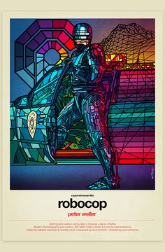 Childhood Movies Tribute: Robocop - by Van Orton Design