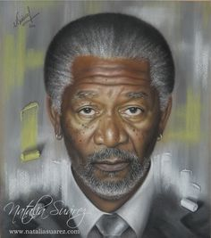 """Morgan Freeman"" Ténica:Pastel Tiza"