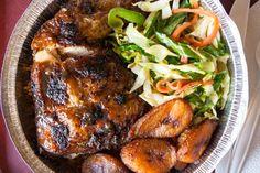 Quite possibly the best kind of chicken on the planet. Scotch Bonnet Pepper, Restaurants, Chicken Plating, Jerk Chicken, Spicy, St Denis, Pork, Menu, Chicken