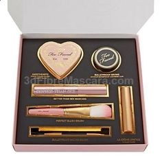 Too Face All You Need Is Love 5 Piece Set NEW Brand new Never opened box is still sealed. What You Get .07 oz. Bulletproof Brows with brush - Universal Brunette .27 fl. oz. Better Than Sex Mascara - Black .19 oz. Sweethearts Perfect Flush Blush - Candy Glow .11 oz. La Creme Color Drenched Lip Cream - Sugar Daddy (nude rose) Perfect Blush Brush Too Faced Makeup