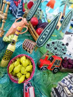 "Campania Countryside - featuring ""Limoncello"" Italy map detail by Sara Drake"