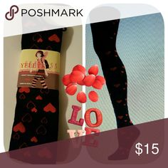 NWT Love Your Over Knee socks Brand new socks with little red hearts. Wear  them anytime or give them for Valentine's Day. Price firm. Accessories Hosiery & Socks