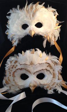The Golden Custom Owl Owl Mask, Bird Masks, Plaster Crafts, Feather Mask, Harry Potter Halloween, School Dresses, Animal Masks, Masks Art, Mask Making