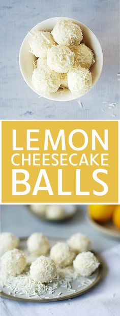 Lemon Cheesecake Balls made with Just 4 Ingredients Kids Eat by Shanai - Lemon Cheescake Cheesecake Balls Recipe, Cheesecake Pops, No Bake Lemon Cheesecake, Healthy Cheesecake, Lemon Balls Recipe, Cake Ball Recipes, Lemon Dessert Recipes, Lemon Recipes, Brunch Recipes