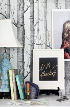 Desk Styling via the Hunted Interior