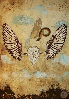 Owl Spirit Animal, mixed media painting by Selena Dugan-Fields. Mixed Media Painting, Children's Book Illustration, Spirit Animal, Drawing Reference, Selena, Childrens Books, Fields, Rooster, Moose Art