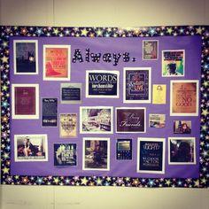 My Pinterest inspired Harry Potter bulletin board!