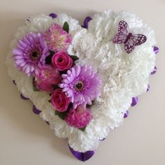 #Heart #shaped silk artificial funeral #flowers wreath/memorial/grave tribute, View more on the LINK: http://www.zeppy.io/product/gb/2/361510526322/
