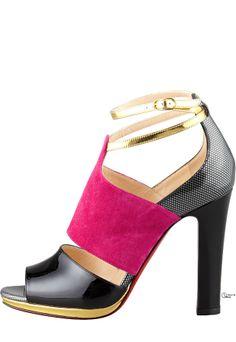 Christian Louboutin ● Colorblock Sandal in Pink