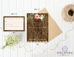 Invitation rustique Endorphine, version imprimable Place Cards, Invitation, Place Card Holders, Lettering, Printable, Rustic, Calligraphy, Letters, Invitations