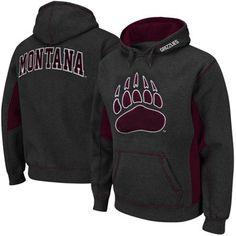 Montana Grizzlies Turf Fleece Pullover Hoodie   Charcoal/Maroon