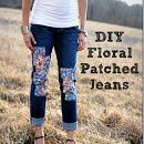 DIY Floral Patched Jeans