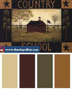 Lovely Interesting Fall Color Palette   Google Search. Primitive Paint ...