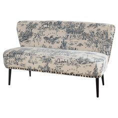 $380.95: Evoke classic appeal in your living room or den with this eye-catching loveseat, showcasing an American Revolution-inspired toile motif and stylish nailhead ...