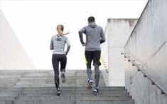 fitness, sport, people, exercising and lifestyle concept - couple running upstairs on city stairs Remove Belly Fat, Lose Belly Fat, You Fitness, Fitness Goals, Fitness Sport, Fitness Equipment, Fitness Tips, Weight Loss Plans, Weight Loss Tips