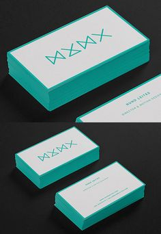 Minimalist Design Edge Painted Business Card For A Freelance Motion Designer